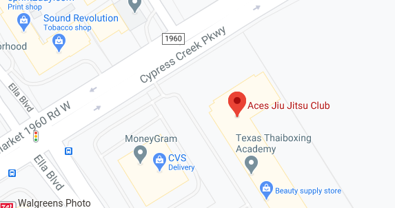 Aces Jiu Jitsu Club Spring Houston Texas Map Snapshot