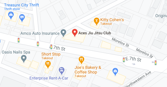 Aces Jiu Jitsu Club Downtown Austin Texas Map Snapshot